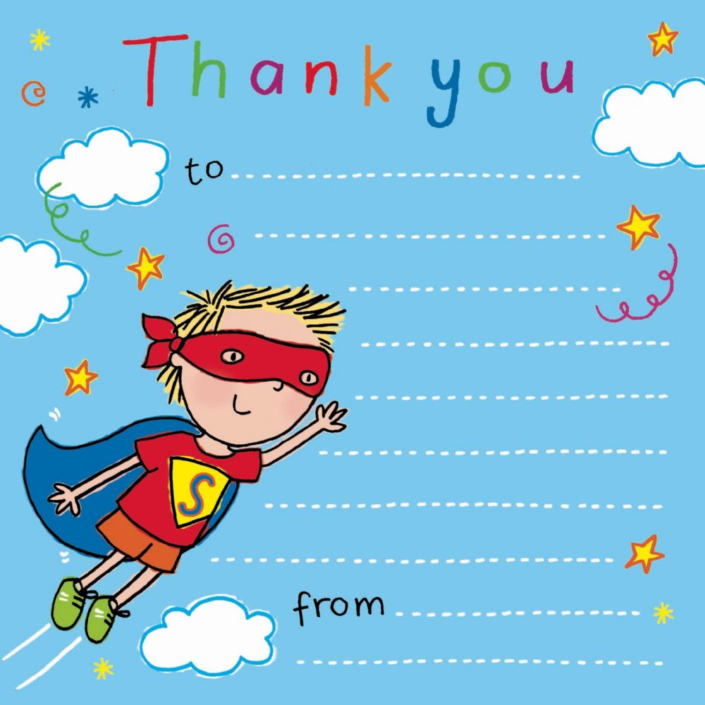 thank you notes for kids, thank you cards for children ...